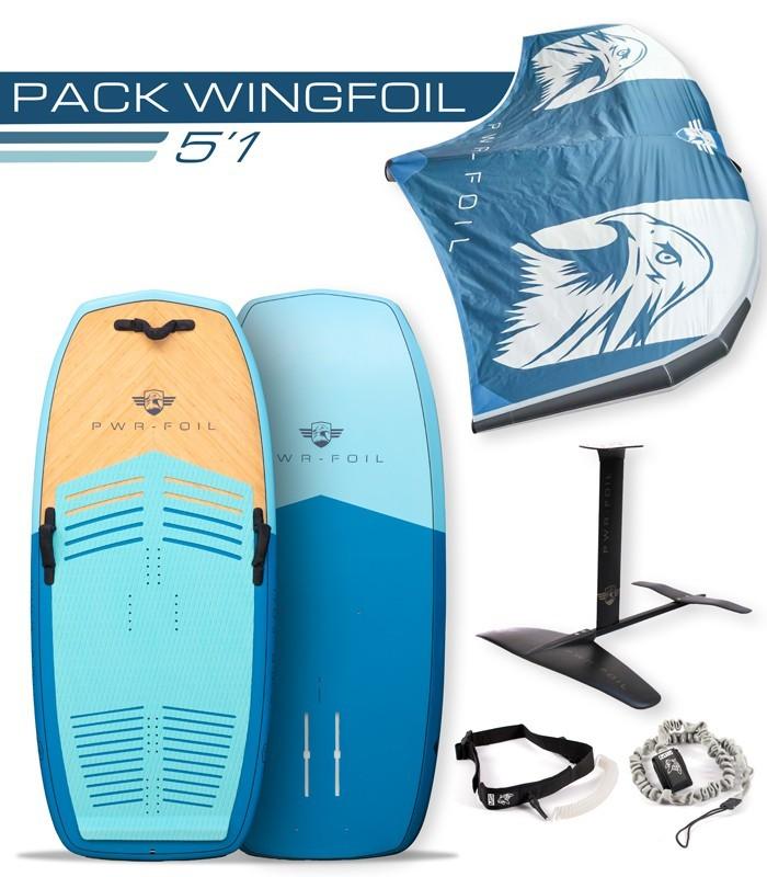 Pack wingfoil 5'1 complet PWRFOIL FOIL & WINGFOIL